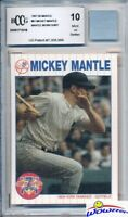 1997 SB #61 Mickey Mantle w/WORN SHIRT BECKETT 10 MINT GGUM Yankees