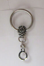 Surgical Steel Skull Handcuff Dangle Hoop Ring 14 gauge 14g 10 mm