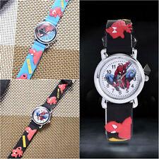 Spider Man Marvel Cartoon Child Boys Kids Analog Quartz Wrist Watch Rubber P6