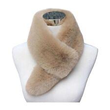 Womens Winter Faux Fur Scarf Neck Warmer Wrap Extra Long Collar Shawl Stole