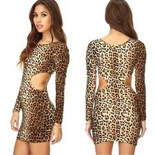 Polyester Party Animal Print Dresses for Women