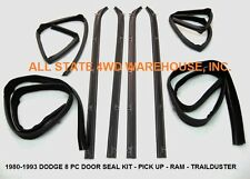 8 Piece Rubber Door Window Weatherstrip Seal Kit for 80-93 Dodge Truck & Ram