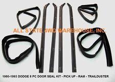 8 Piece Rubber Door Window Weatherstrip Seal Kit for 80-93 Dodge Truck & Ram