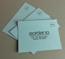 Soldano Guitar Amps Amplifier Warranty Registration Card SLO Lucky Astroverb