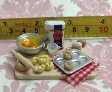 Dollhouse Miniature Kitchen Bread Baking Attached Food Board 1:12