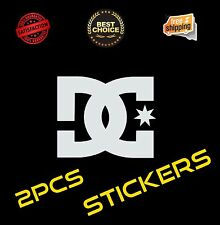 2 Pcs DC Shoes Funny Vinyl Sticker Decal Graphic Car Truck Wall Laptop Cell