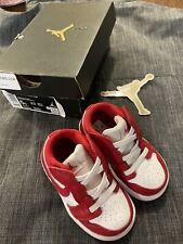 New In Box Nike Jordan 1 Low Alt TD Gym Red/ White Toddler Sz 5c New CI3436 611