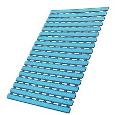 I Frmmy Blue Non Slip Mold Resistant Shower Floor Mat Suction Cups Drain Holes