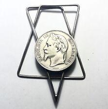 Pince A Courrier Ornée D'une Pièce De 5 Francs Argent Napoleon III