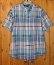 NWT $46.00 TURQUOISE PLAID BUTTON FRONT SHIRT FROM U.S. POLO ASSN. SIZE LARGE
