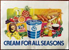 Cream For All Seasons, Vintage Milk Marketing Board Recipe Book