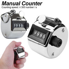 Tally Counter Hand Clicker 4 Digit Mechanical Manual Palm People Counting