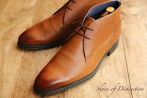 Men's Ted Baker Brown Leather Chukka Boots Shoes UK 11 US 12 EU 45