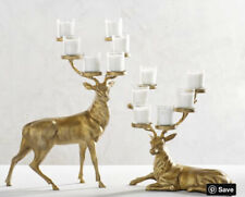 Pottery Barn Gold Reindeer Multi Tealight Candle Votive Holders Christmas