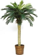 Silk Palm Tree 4 Foot Potted Indoor Outdoor Tropical Decor Fake Artificial Plant