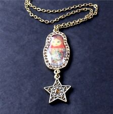 Gold Caramel Swarovski Enamel Bnwt Pilgrim Necklace Russian Doll Dark