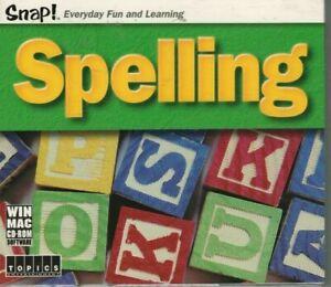 SNAP! Spelling (2003 Topics) CD-ROM Software