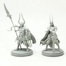 Kingdom Death Warlords Female & Male Warrior Unpainted Model Resin Kit Figure
