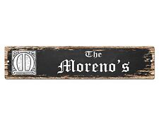 SP0776 The MORENO'S Family name Sign Bar Store Shop Cafe Home Chic Decor Gift