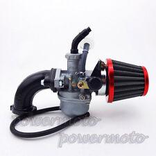 22mm Carburetor Carb Intake Pipe Air Filter For 110 125cc ATV Pit Pro Dirt Trail