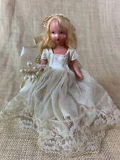 "Nancy Ann Storybook Doll BLONDE BRIDE * NASB * 6 1/2"" Stiff Legged"