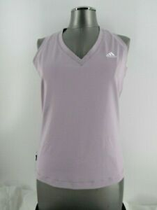 Adidas light purple athletic tank top size large polyester blend