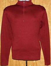 Men's NIKE GOLF Cover Up Pull-On 1/4 Zip L/Sleeve Top In Burgundy 400099 Sz S!