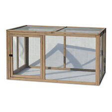 Chicken Wire Mesh House Pet Hen Cage Coop Extension Wood Poultry Brooding Pen