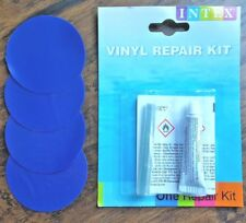 Heavy Duty Blue Patch x4+Vinyl Repair Kit: Inflatables, Air Mattress, Raft, Boat