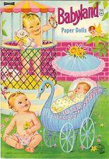VNTG 1969 BABYLAND PAPER DOLL LASR REPRODCTN~Org SZE UNCuT FREE S&H TOP SLR