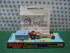 Vintage  -  DRAGSTER  SET con propulsore di lancio      -  Dinky  Toys  370