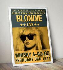 More details for blondie poster, debbie harry print, reproduction artwork/print.