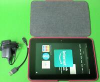 "Amazon Fire HD 8.9 32GB WLAN  8,9 Zoll 8,9"" - Schwarz B0CB** + orig. Case Pink"