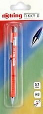 Rotring TIKKY II Mechanical Pencil 0.7mm leads Pastel Red New