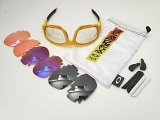 NEW & MINT  OAKLEY JAWBONE MATTE YELLOW FRAME/ VENTED TRANSITION + EXTRAS