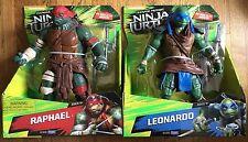 """Leonardo Raphael Large 11"""" Teenage Mutant Ninja Turtle Movie 2014 Deluxe Set NEW"""