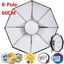 "8-Pole 24""/60cm Beauty Dish Octagon Softbox Bowens Mount for Studio Strobe Flash"