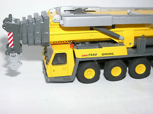 1:50 NZG Grove GMK 7550 großer Autokran gelb neuwertig OVP