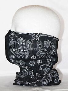 Multi use Biker Black Pattern Cycling Neck Tube  Snood Face Mask Warmer Bandana