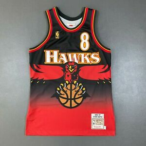 100% Authentic Steve Smith Mitchell & Ness 96 97 Hawks Jersey Size 40 M Mens