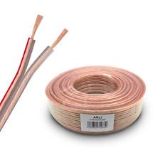 25m Lautsprecherkabel Boxenkabel 2 x 2,5 mm² CCA Kupfer transparent Audio Kabel