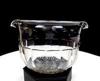 "FLINT GLASS GEORGIAN ERA CLEAR PANELED 3 5/8"" WINE RINSER 1714-1837"