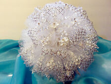 Wedding Bouquet - Gorgeous and Elegant - White and Silver
