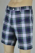 Polo Ralph Lauren Blue Green White Red Plaid Slim G.I. Fit Shorts NWT 40