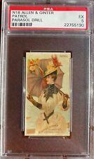 1888 N18 Allen & Ginter Parasol Drill PATROL PSA 5 EX