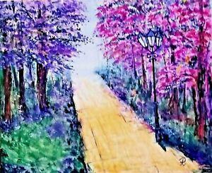 """"""" Springtime Woods """" Original Painting~ De Martino Art"""