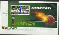 AUSTRALIA 2007 ASHES VICTORY 2006/07 Series S/Sheet FIRST DAY COVER.