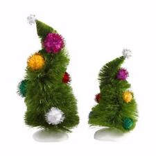 NEW Department 56 Grinch Village Accessories Wonky Trees Set of 2 4032417
