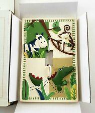 Kidsline Zanzibar Jungle Switch Plate. Crocodile Monkey Animal. New