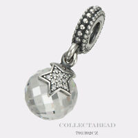 Authentic Pandora Sterling Silver Hanging Moon & Star Bead 791392CZ